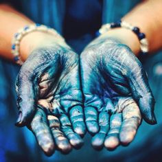 Working hands of an Indigo farmer …. Shikoku, Japan.