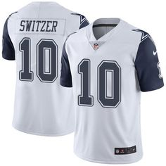 Youth Nike Dallas Cowboys #10 Ryan Switzer Limited White Rush NFL Jersey