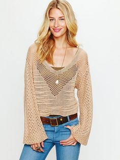 Free People Web Textured Pullover, $29.95
