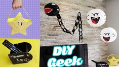 DIY GEEK 5 ideas inspired by the Game Super MARIO BROS - decoration ceil...