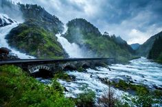 The most beautiful bridges around the world. Låtefoss, Waterfall in Norway - B.Aa.Sætrenes/Getty Images