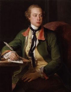 Frederick North, Earl of Guilford by Pompeo Batoni, Rumoured to have been a son of Frederick, Prince of Wales, and therefore a half-brother of George III. It cannot be denied that the resemblance between the men was striking. John Charles, National Portrait Gallery, American War, Art Uk, My Heritage, Vintage Artwork, Ferdinand, American Revolution, 18th Century