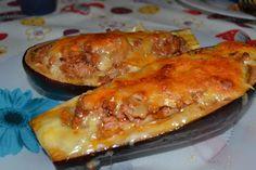 O que há pró jantar?: Beringela recheada com carne picada