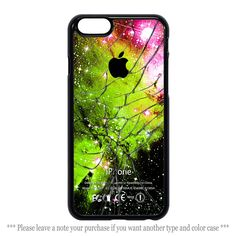 Green Light Galaxy Nebula Cracked Glass Cover iPhone 4 4s 5 5s 5c 6 6 plus Case #UnbrandedGeneric
