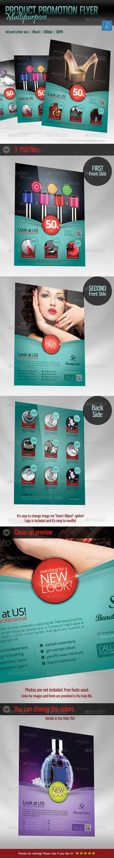 Product Flyer Multipurpose — Photoshop PSD #hair #showcase