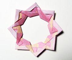 折り紙リースのアレンジで母の日の飾りを作ります - ペーパークラフト動物園へようこそ