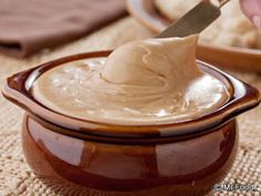 Amish Church Spread Recipe ~ This creamy, sweet mix of brown sugar, butter, peanut butter & marshmallow cream is often served at Amish gatherings - on everything from bread to cakes. One taste and you'll know why!