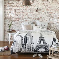 Paris Style Bedroom french inspired girls bedroom in gray and red | decorating theme
