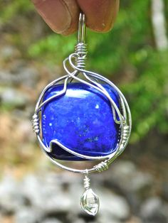 Lapis and Herkimer Diamond Sterling Silver by herkimerjewelry