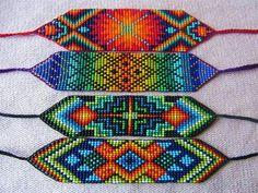 Bead Loom Designs, Loom Beading, Bracelets, Loom Bracelets, Knot Bracelets, Sombreros, Fabrics, Paper Flower Templates, Bracelet