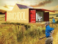 Boxchool – Modular Container School for Isolated Areas Container Buildings, Container Architecture, Zone Rurale, School Building, Classroom Environment, Eco Friendly House, Rural Area, Learning Centers, School Classroom