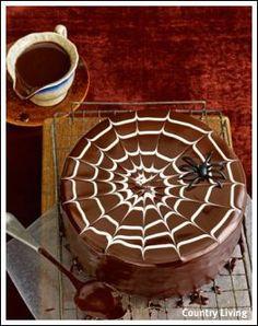Spider web cake #Halloween