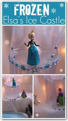 Make an ice castle for Elsa like in Disney's Frozen Frozen Birthday Party, Frozen Party, Girl Birthday, Birthday Parties, Frozen Movie, Birthday Board, Elsa Frozen, Disney Frozen, Diy For Kids