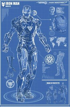 Download Iron Man Blueprints Stark Industries 17202 8 Hd Desktop Rh  Pinterest Com Iron Man Arc Reactor Wallpaper Iron Man Mark 7 Blueprints