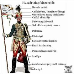 Fehérvári Huszár - Hungarian Hussar of the Hungarian Revolution Austrian Empire, French Revolution, School Decorations, Projects For Kids, Preschool Activities, Budapest, Coloring Books, Military, Teaching