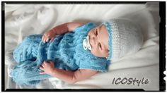 Knitted jumpsuit with button fastening between the legs and hat,handmade Crocheted the suit Baby Overalls,Baby Outfit, Baby Home Outfit,Gift by ICOStyle on Etsy