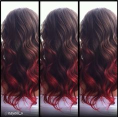 Ombre love!! CHI Chromashine in CHI Red I could probably do this. My hair is short right now...so don't know.