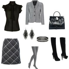 Basic black and Grey is so sophisticated.