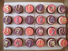 gymnastics themed birthday cupcake ideas | Gymnastics cupcakes | Flickr - Photo Sharing!