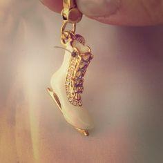 LTD Ice Skate Charm - white Excellent  condition Jewelry Bracelets