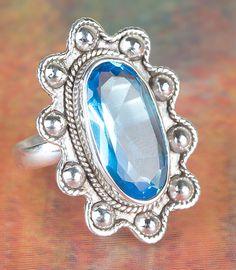 Freundschaftsringe - Handmaded 925 Silber Blautopas Lab Ring - ein Designerstück…