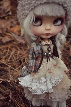 Mori Girl Deer Nature girl Necklace for Blythe, Pullip or Odeco