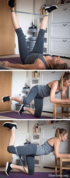 Resistance Band Leg Workout 2