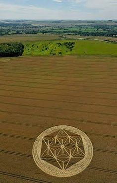 Crop Circle at Etchilhampton, near Devizes, Wiltshire, England, UK..: