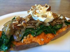 One Sweet Day: Twice Baked Sweet Potatoes With Spinach, Shallots ...