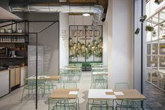 View the full picture gallery of FRESCO Fresco, Retail Architecture, Contemporary Architecture, Restaurants, Design Tisch, Retail Interior, Signage Design, Pantone Color, Restaurant Design