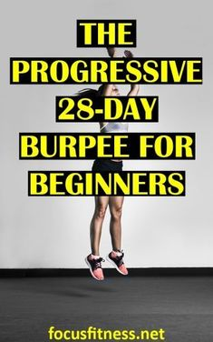 If you want to get in great shape in less than a month without the gym, take on this progressive burpee challenge for beginners. Best At Home Workout, Best Cardio Workout, Burpees Workout, Workouts, Workout Exercises, Workout Ideas, Burpee Challenge, Workout Challenge, Fat Burning Home Workout