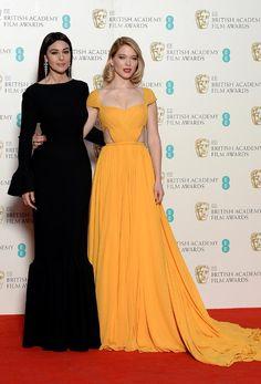 Bafta 2015. Las chicas Bond Monica Belluci y Lea Seydoux posaron juntas en la sala de prensa