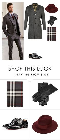 """men 17"" by gulvirabaeva on Polyvore featuring Burberry, Dents, Christian Louboutin, Valentino, men's fashion и menswear"