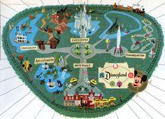 vintage illustrated disneyland map