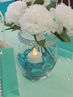 Tiffany OFF! 28 Ideas wedding blue tiffany bridal shower for 2019 Tiffany Theme, Tiffany Party, Tiffany Wedding, Tiffany Blue Weddings, Bridal Shower Centerpieces, Table Centerpieces, Centerpiece Ideas, Tiffany Blue Centerpieces, Turquoise Centerpieces