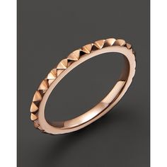 Zoe Chicco 14K Rose Gold Baby Spike Stack Ring (1,300 PEN) ❤ liked on Polyvore featuring jewelry, rings, rose, 14k ring, stacking rings jewelry, pink gold rings, rose gold stackable rings and 14k rose gold jewelry