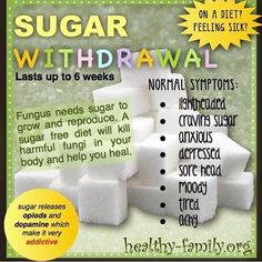 Toxins In Diet On a diet? Learn the reasons why sugar withdrawal causes you to feel rotten and what you can do about it. Sugar Detox Plan, Sugar Detox Diet, Sugar Free Diet, Sugar Diet, Carb Detox, Health And Nutrition, Health And Wellness, Health Tips, Mental Health