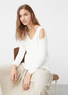 Jersey off shoulder | MANGO