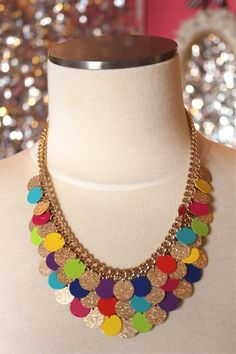 Confetti Fun Statement Necklace