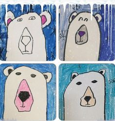 My class made these after researching and learning about Arctic Animals.  Directions can be found at Art Projects for Kids.