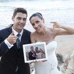 Qué os parece esta idea para celebrar el #primeraniversario? #love #photo #boda #beach #sun