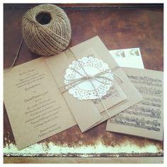 DIY Wedding Invitation  something similar, little more formal maybe