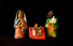 Painted ceramic Nativity by Josefina Aguilar, Octolán de Morelas, Oaxaca, Mexico, circa 1990. Josefina is perhaps the best known of the four Aguilar sisters, Mexican folk artists who live in Octolán, a village near the city of Oaxaca. Josefina was the first of her sisters to achieve international recognition when Nelson Rockefeller began collecting her pieces in the 1970s. Today the folk art of the Aguilar sisters can be seen in museums and private collections around the world. Collection of…