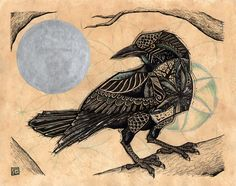 Crow Spirit by Tanglefire on Etsy, $18.00
