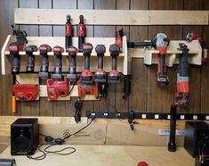 Diy Cordless Power Tool Storage Charging Station Milwaukee And Garage Organization French Cleats Yard Ideas Garden Organizer Wall Lawn