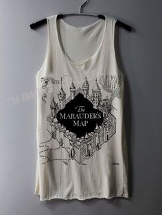 The Marauder's Map Shirt Harry Potter Map by ThinkingGallery, $15.00