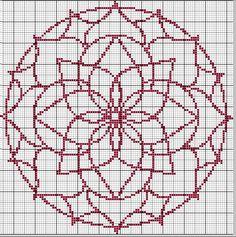 Je ne sais pas si vous connaissez les Mandala, voici l'explication que j'ai trouvée: Mandala est un terme sanskrit signifiant cercle, et par extension, sphère, environnement, communauté. Le diagramme symbolique du mandala peut alors servir de support... Blackwork Cross Stitch, Cross Stitch Bird, Cross Stitch Borders, Cross Stitch Flowers, Modern Cross Stitch, Cross Stitch Charts, Cross Stitch Designs, Cross Stitching, Cross Stitch Embroidery