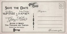 The back of our vintage postcards. These were our save the date cards for our wedding. Hansen Is, Day Of My Life, Save The Date Cards, Vintage Postcards, Wedding Stationery, First Love, Our Wedding, Place Cards, Dating