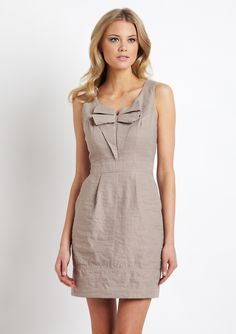 Sine: Shift Dress $49 (on sale from 242) #dress #outfit #bows