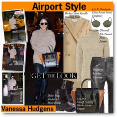 Get the Look: Celebrity Winter Airport Style by beebeely-look on Polyvore featuring Gloverall, MICHAEL Michael Kors, Givenchy, Dolce Vita and L.G.R